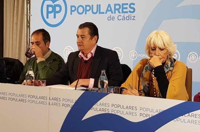 Antonio Sanz, en un desayuno con los medios