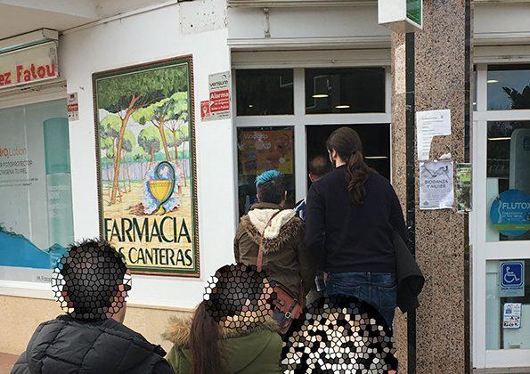 Farmacia de Las Canteras el día de Nochevieja