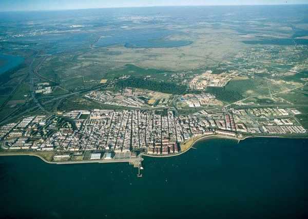 Imágen aérea de Puerto Real