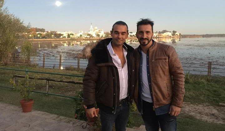 """Salvador García """"Pitu"""" y Pedro Campos en El Rocío"""