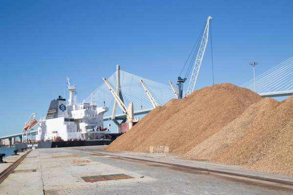 Barco de graneles sólidos en La Cabezuela