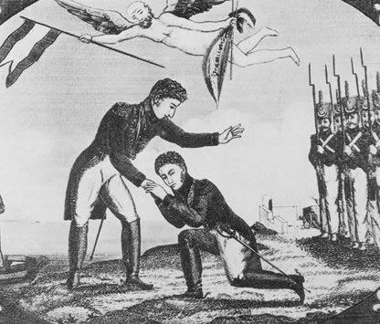 Duque de Angulema ante Fernando VII