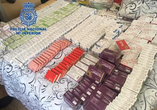 Medicamentos incautados por la Policía Nacional