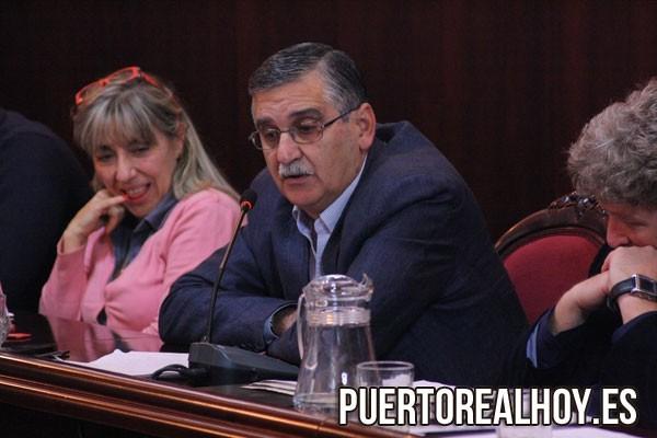 Fernando Boy, durante un Pleno en el Ayuntamiento de Puerto Real.