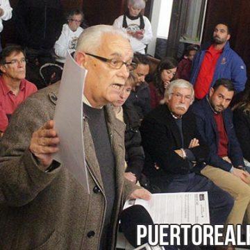 Antonio Bohórquez, Presidente de Puerto Real CF, en el Pleno.