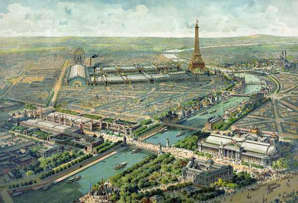 Paris durante una de las Exposiciones Universales que acogió.