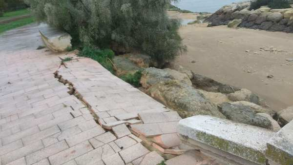 Desperfectos del temporal en el Río San Pedro