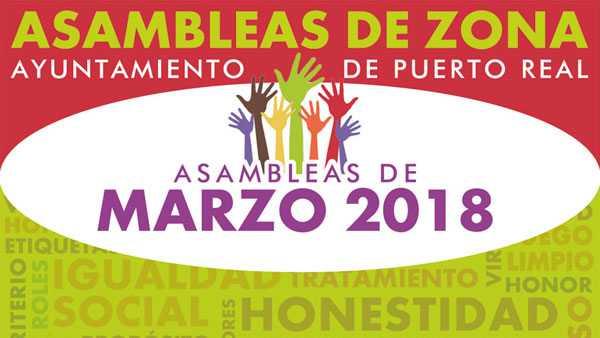 Asambleas de Zona en el Ayuntamiento de Puerto Real.