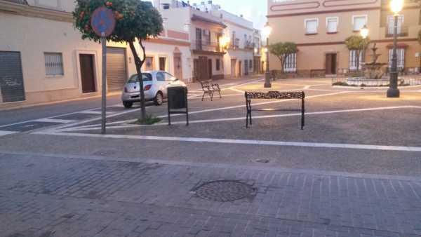 Plaza Carlos Cano, en Puerto Real.