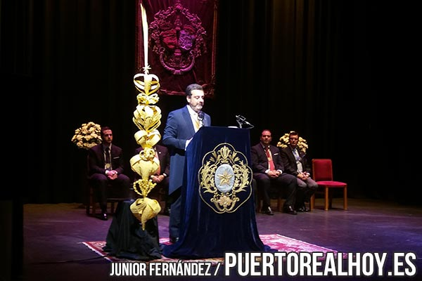 Jesús Devesa, pregonando la Semana Santa de Puerto Real 2018