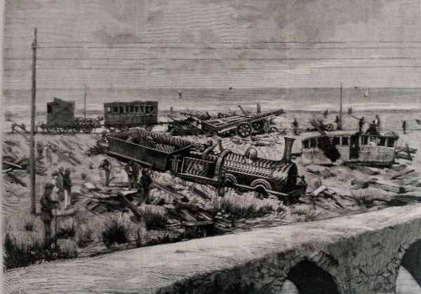 Descarrilamiento del tren del correo de Cádiz.