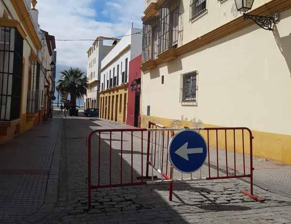 Calle Vaqueros cortada en su tramo final.