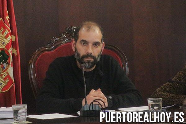 Antonio Romero, durante el Pleno.