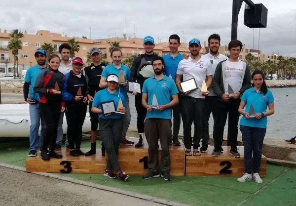 Podio del Campeonato de Andalucía de Vela 2018 en Puerto Real.
