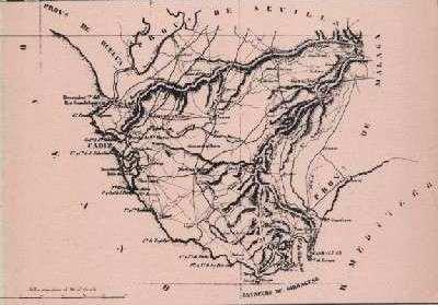 Mapa de Cádiz en el libro de Antonio Guerola.