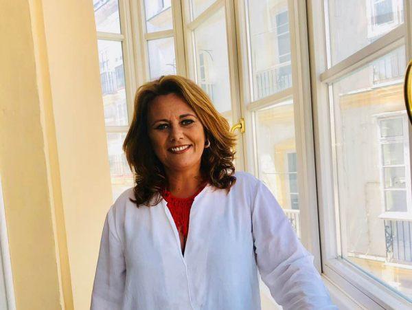 Elena Amaya, en su presentación como alcaldable.