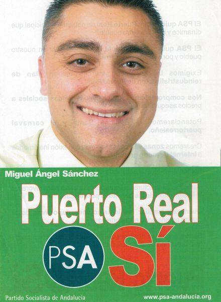Miguel Ángel Sánchez con el PSA en 2003.