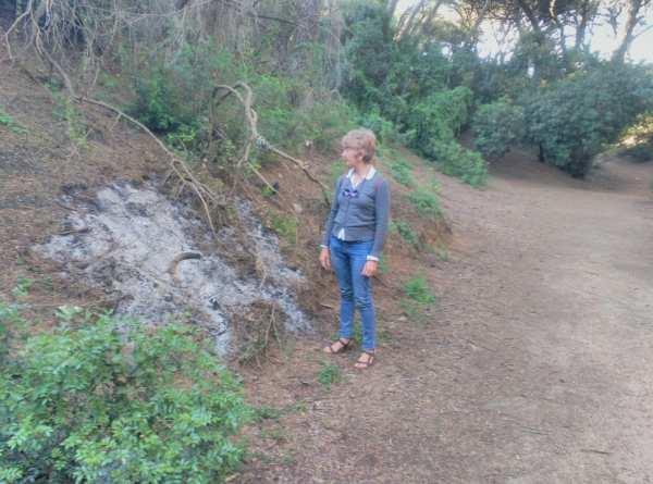María Merello, en el Parque de Las Canteras.