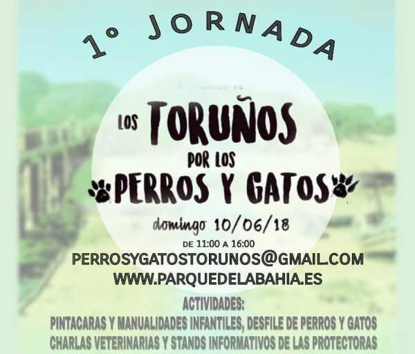 Cartel de la jornada de perros y gatos en Los Toruños.