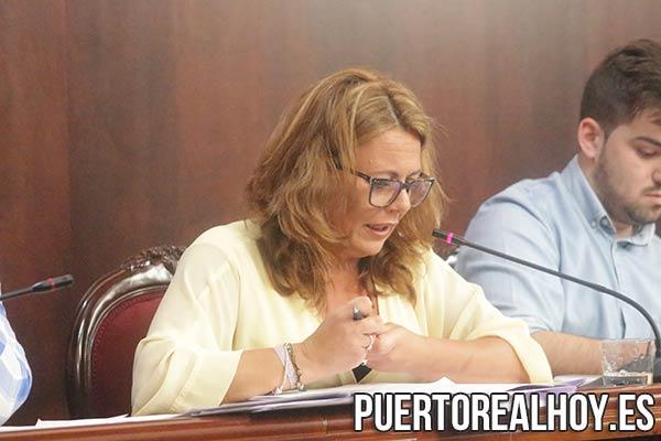 Elena Amaya, durante el Pleno.