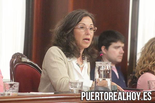Maribel Peinado, en una imagen del pasado Pleno.