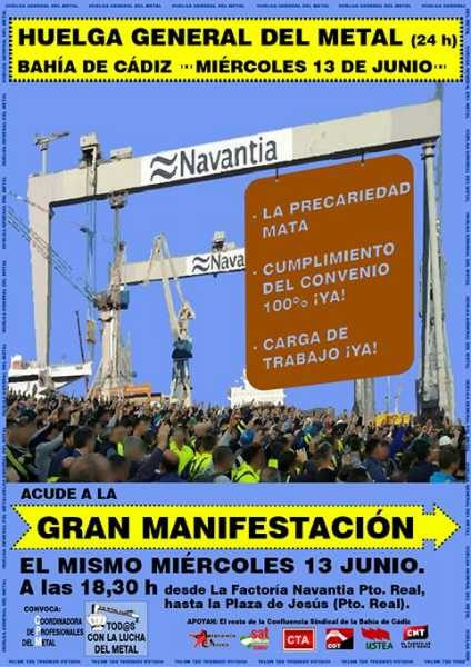 Cartel de la Huelga en el Sector del Metal.