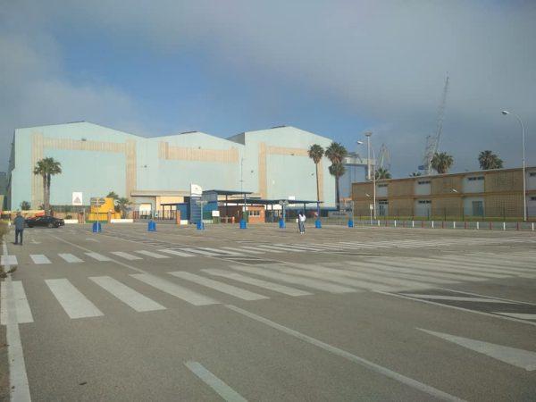 Entrada de Navantia Puerto Real en la jornada de Huelga.