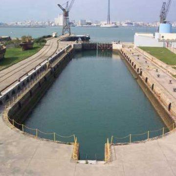Primer dique construido en Matagorda.
