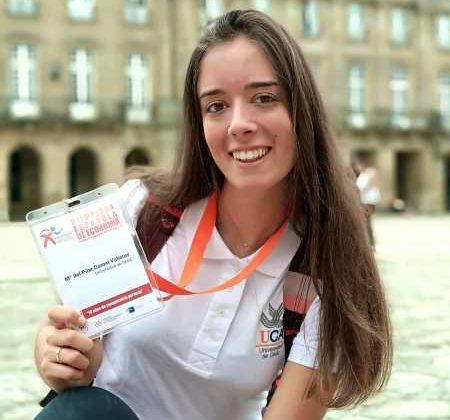 Pilar Daneri, en las Olimpiadas de Economía.