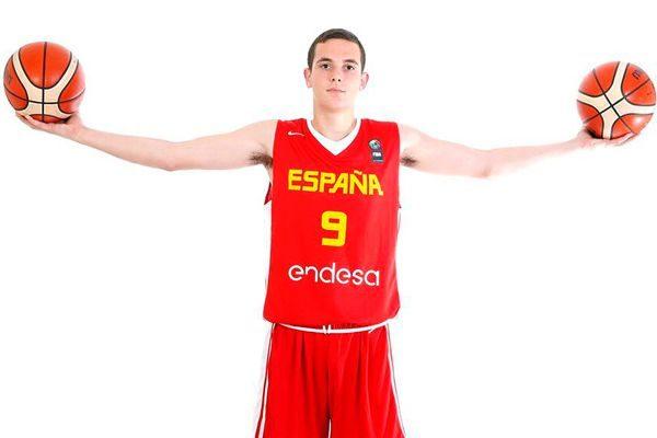 Rubén Domínguez, con la camiseta de la selección española.