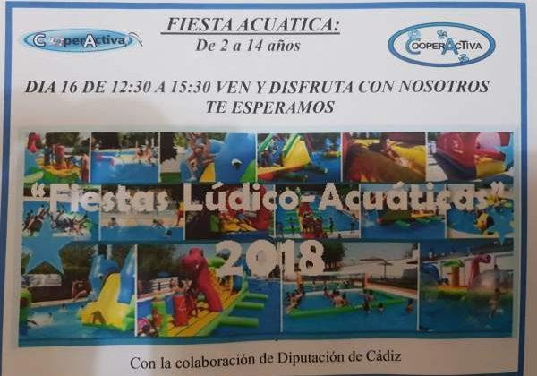 Fiesta lúdico acuática en la Piscina Municipal.