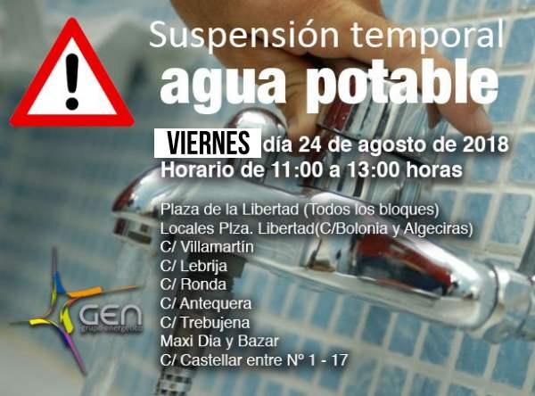 Corte de Agua Potable en Puerto Real.
