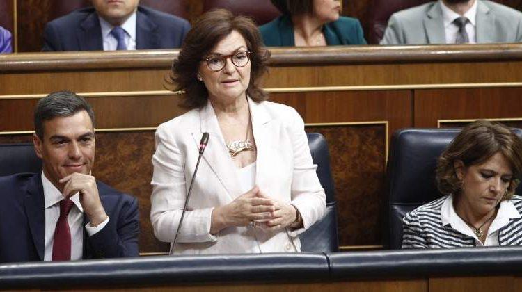 Carmen Calvo, en el Congreso de los Diputados. Foto: EP