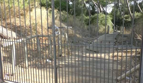 Parque de la María cerrado.