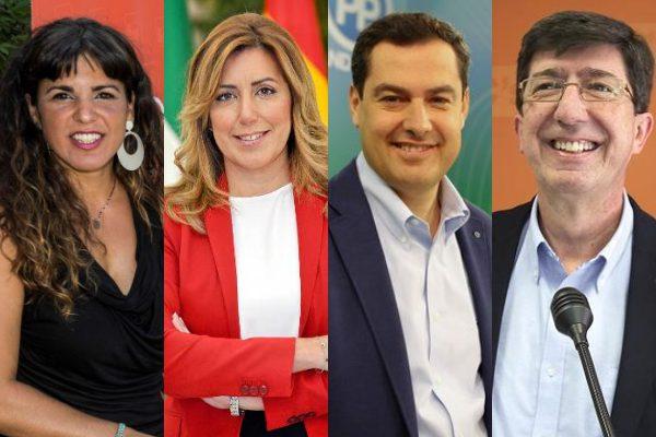 Candidatos a la Presidencia de Andalucía en 2018.