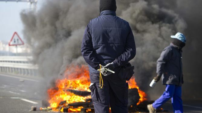 Antigua protesta de Astilleros de Puerto Real en el Puente Carranza.