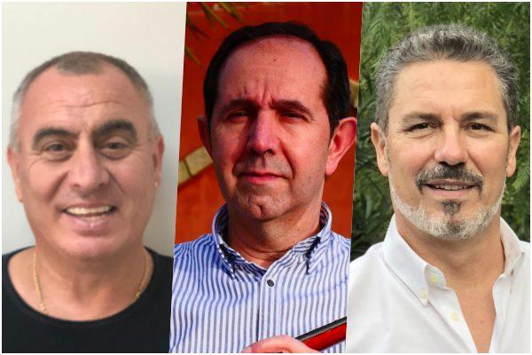 Manuel De La Vega, Ramón Muñoz y Rafael Rosendo, reyes magos de 2018.