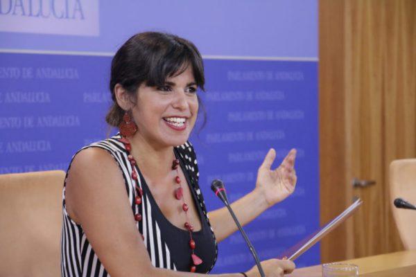 Teresa Rodríguez, portavoz de Podemos Andalucía.