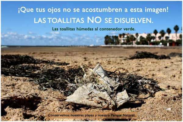 """Campaña """"Las Toallitas NO se disuelven""""."""
