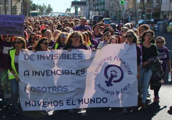 Marcha provincial feminista en la provincia de Cádiz.