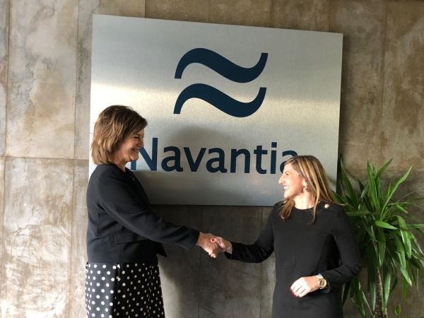 Susana Sarriá, Presidenta de Navantia, e Irene García, Presidenta de la Diputación de Cádiz.