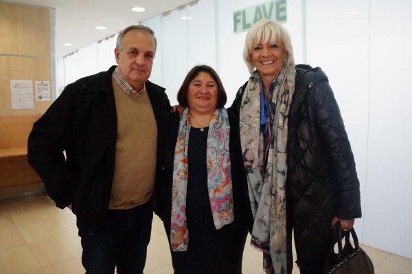 VIcente Fernández y Teófila Martínez con Ana Vanesa Feria.