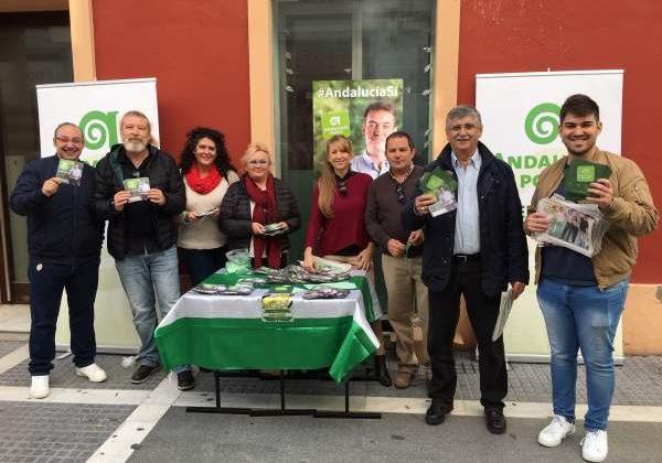 Andalucía Por Sí realizó su reparto electoral en Puerto Real.