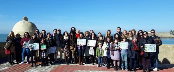 """Premiados del I Concurso Literario """"Fernando Quiñones""""."""
