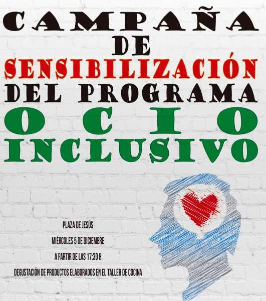 Campaña de Sensibilización del programa de ocio compartido.