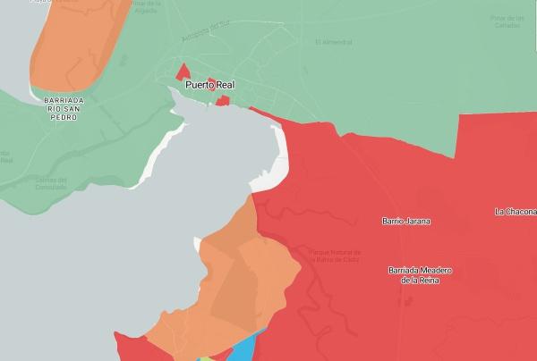 Mapa de votaciones en el 2 de Diciembre.