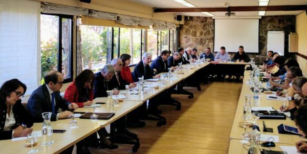 Reunión de Navantia en Los Peñascales, Madrid.