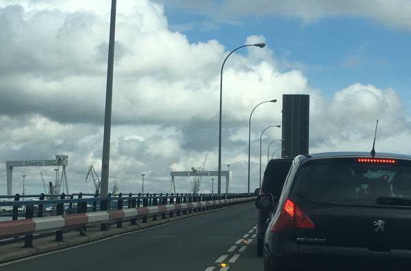 Puente Carranza, con su paso elevado.