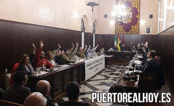 Pleno del Ayuntamiento de Puerto Real, Diciembre 2018.