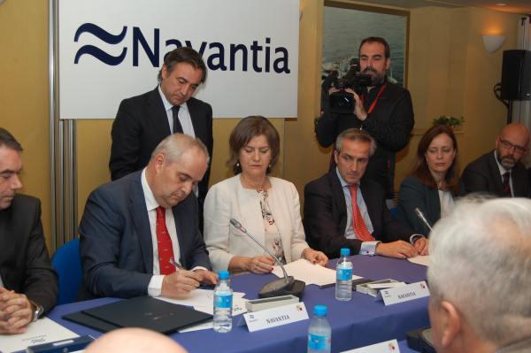 Firma del Plan Estratégico entre Navantia y Sindicatos.